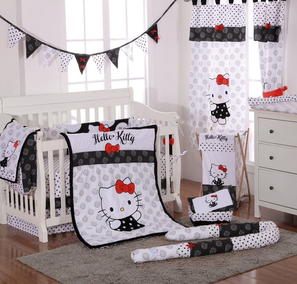 Hello Kitty Kinderzimmer Hello Kitty Black Baby Bedding Crib Bedding Set Kitty Love