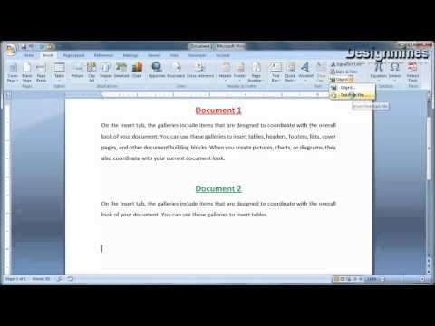 Combine Multiple Document In Word Words Documents Tutorial