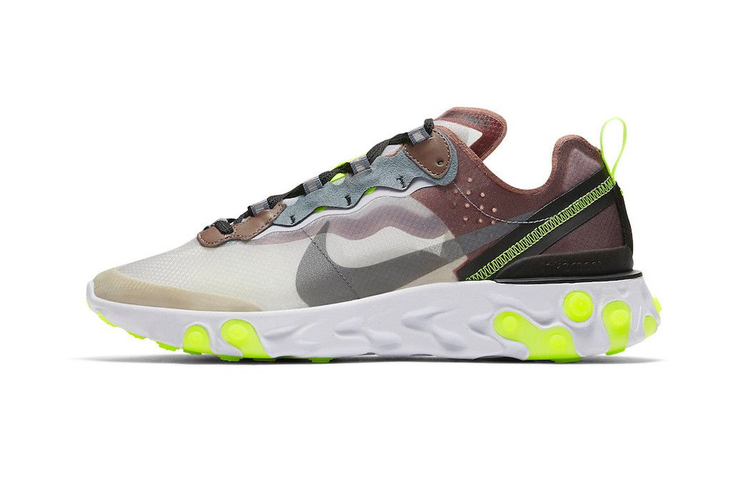 75d3059392ddb Nike React Element 87 Dark Grey Desert Sand Official Release Date Cool Grey  Smokey Mauve Maroon Volt Pure Platinum Photo Blue