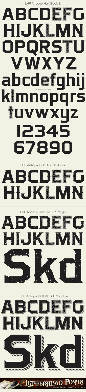 Letterhead Fonts Lhf Antique Half Block 2 Font Set Western Fonts Typography Graphic Western Font Typography Design