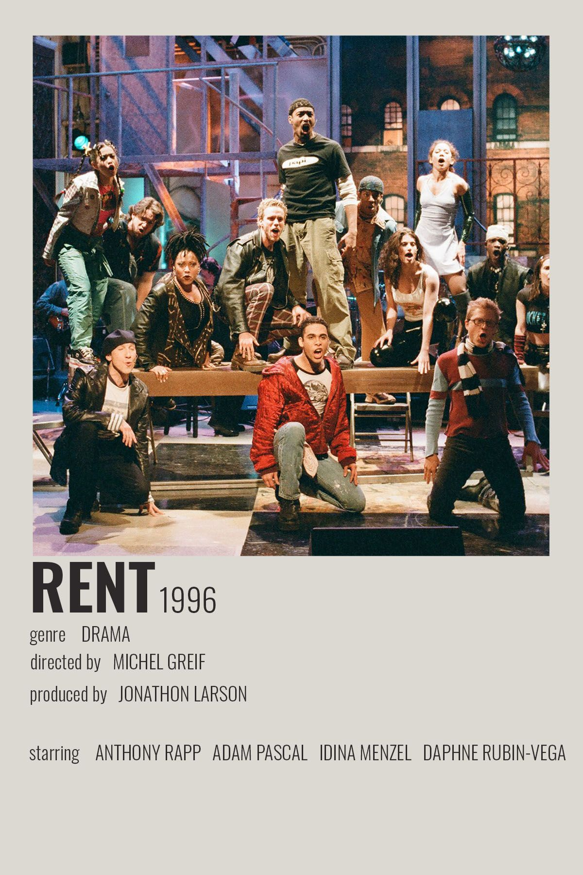 Rent By Cari Broadway Posters Movie Posters Minimalist Broadway Musicals Posters