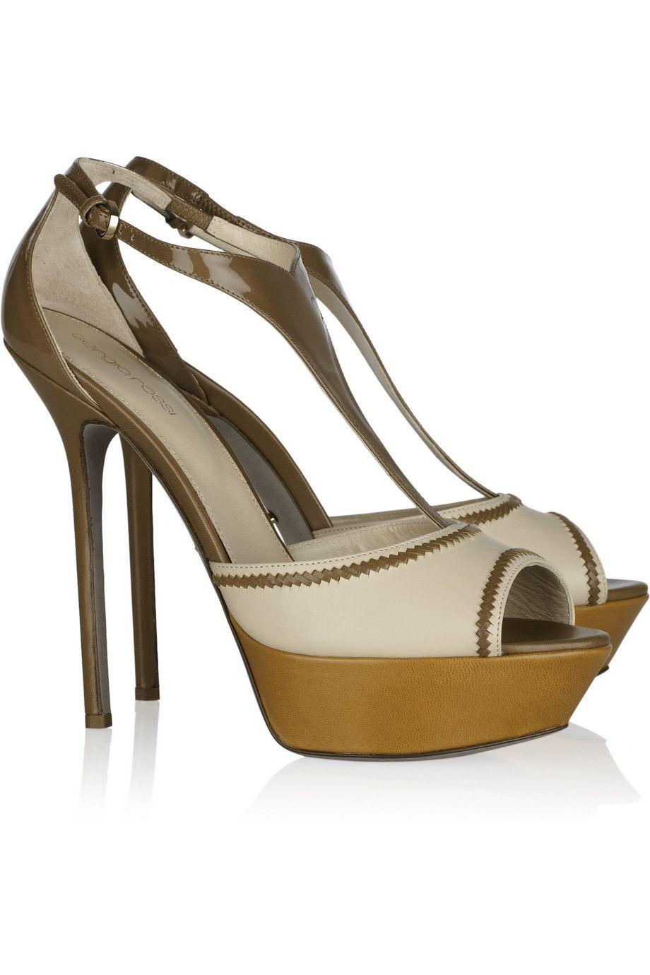 dd5162b2ae1 Sergio Rossi Color-block leather sandals