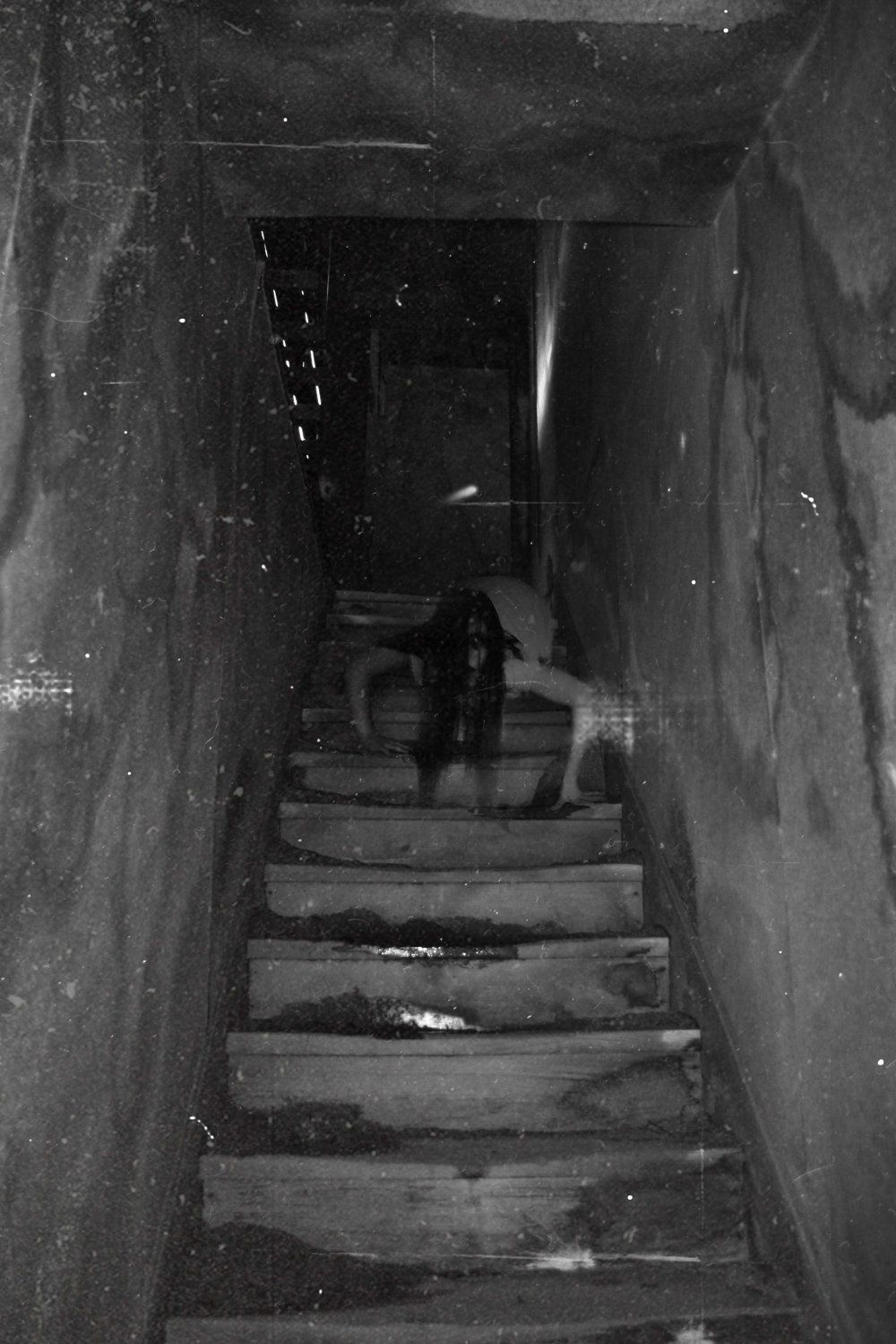 Creepy basement stairs