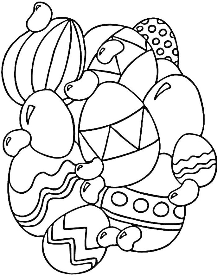 Jelly Beans With Easter Eggs Coloring Pages - Food Coloring Pages ...
