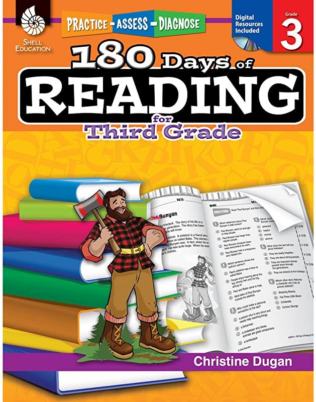 Kindle 180 Days Of Reading Grade 3 Daily Reading Workbook For Classroom And Home Reading Compr Third Grade Reading Phonics Practice Third Grade