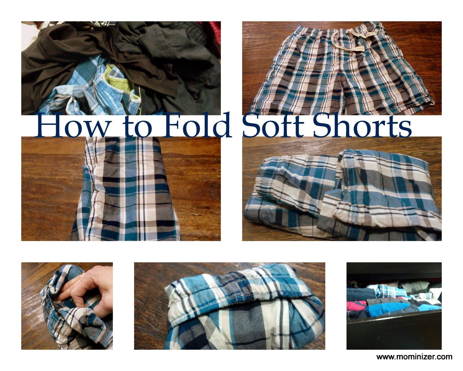 How to fold shortsboxersswim shorts take a pair of