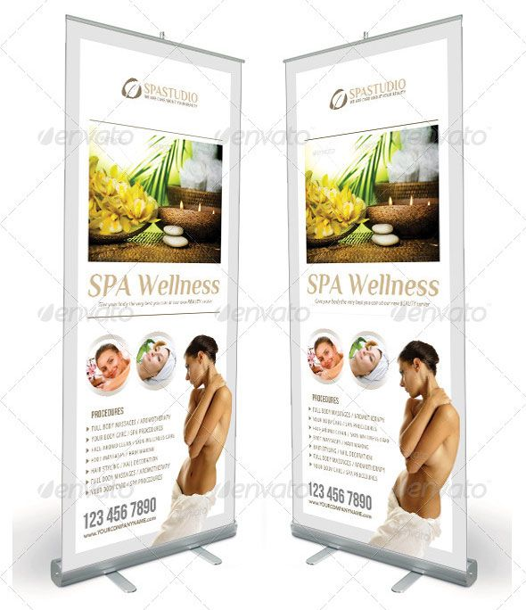 SPA AND BEAUTY SALON BANNER (PSD) #banner #graphic #signage - spa brochure template