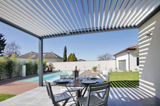 Toiture terrasse, pergola : les 20 meilleurs modèles   Pergola, Pergola bioclimatique, Toiture ...