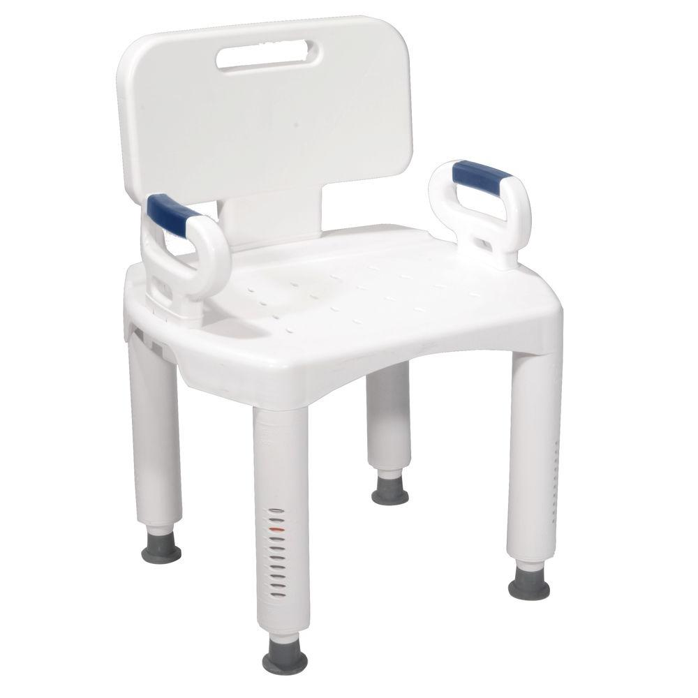 Drive Bath Bench With Back And Arms Rtl12505 In 2020 Bench With Back Bath Bench Shower Chair