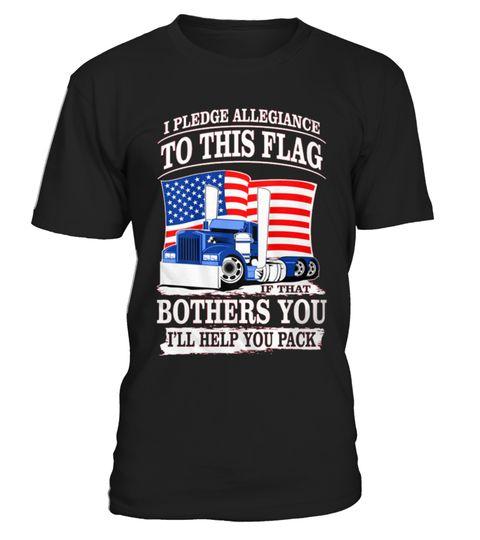 # Truck Driver Trucker Pledge Allegiance .  Truck Driver Trucker Pledge Allegiance