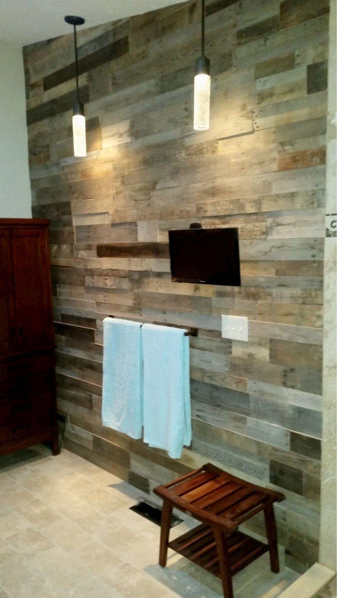 27 Tutes Tips Pallet Wood Wall Bathroom Wood Wall Bathroom