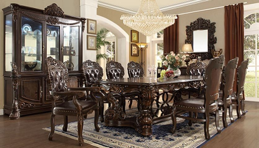 hd 8006 homey design dining room set victorian european classic
