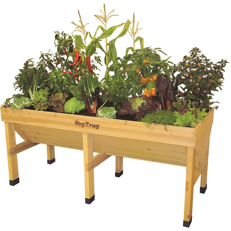 Vegtrug 1 8m Medium Raised Garden Bed Natural Raised Garden Beds Planter Beds Raised Garden