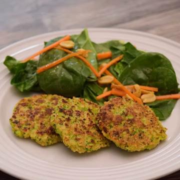 Tortitas de quinoa y brócoli