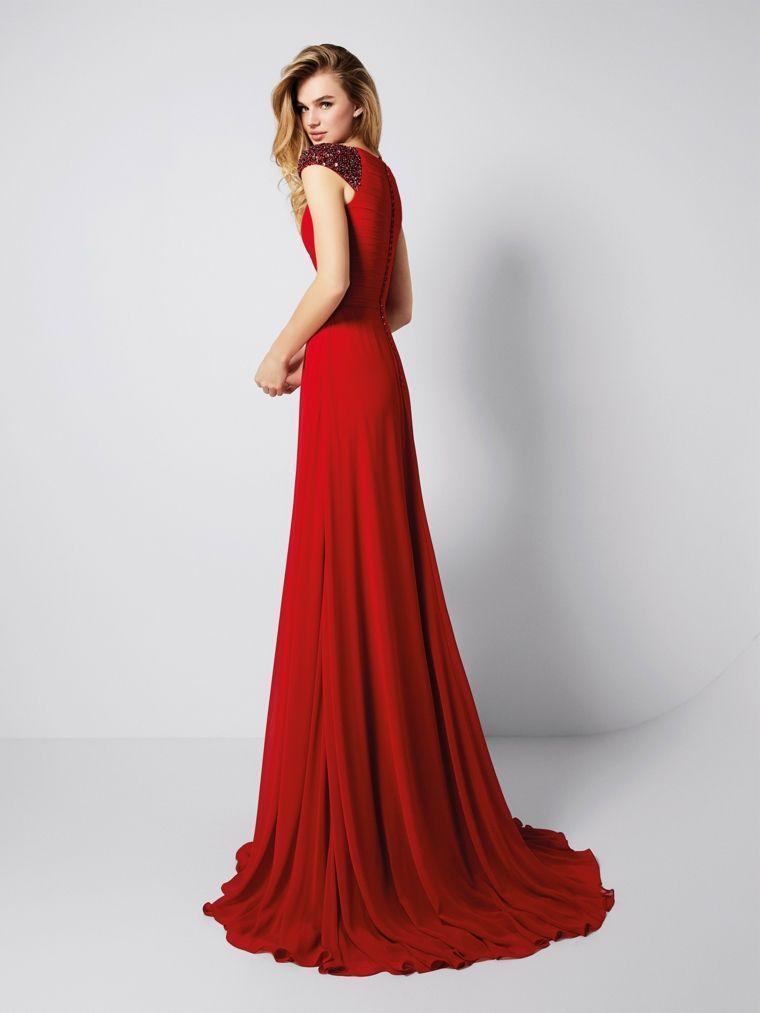 d590ef30c59e Elegante vestito rosso forma ad A