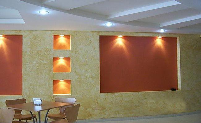 Muros de tablaroca fotos para decoracion pinterest for Decoracion muros interiores