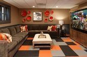 Photo of Equestrian-Themed Lower Level Recreational Room traditional-basement     #Equest…,  #Equest…