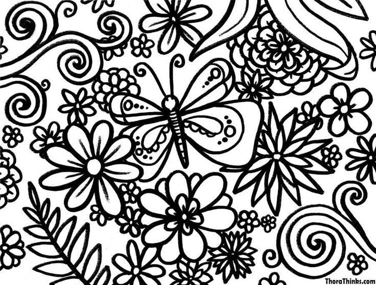 spring coloring page classroom pinterest coloring pages - Printable Spring Coloring Pages