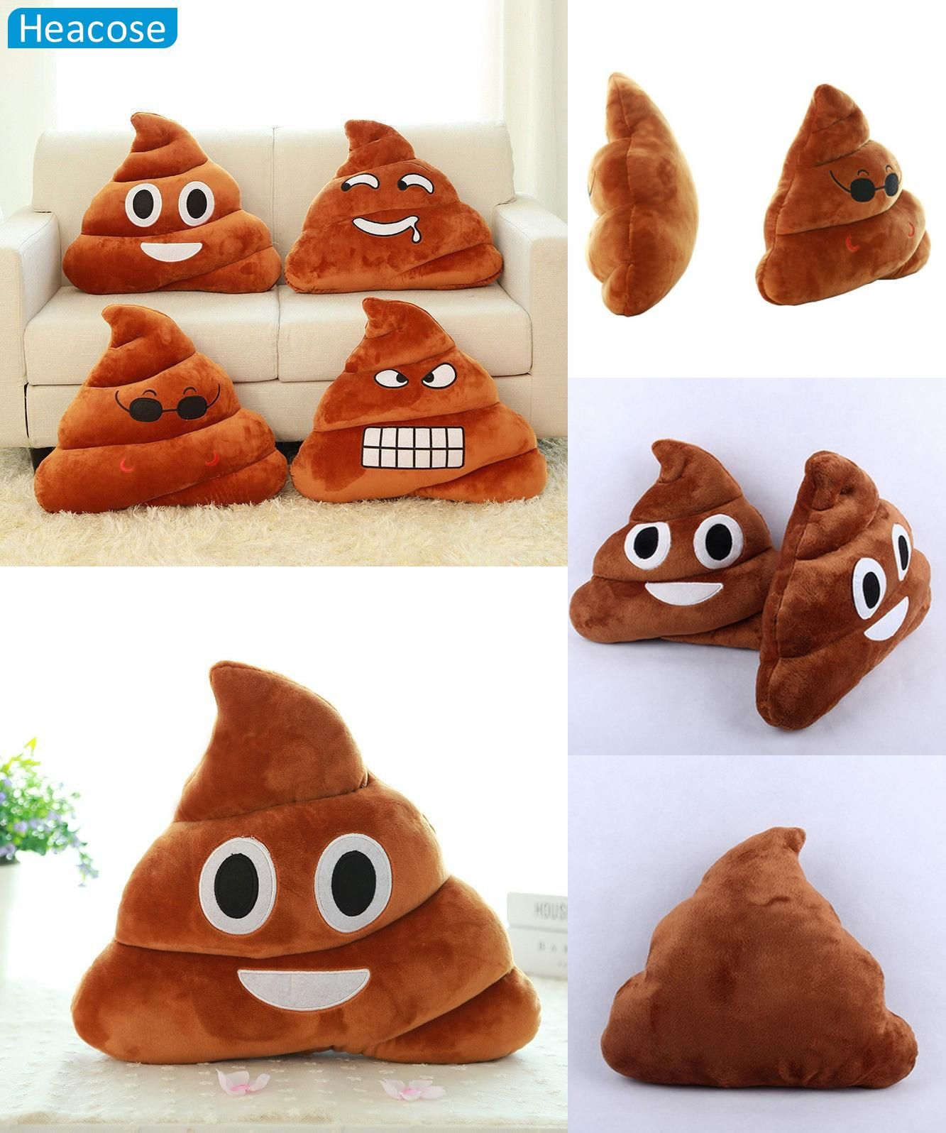 Visit to buy funny large size cute emoji pillow smiley throw