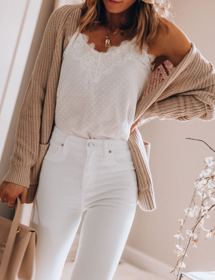 Photo of Cozy Ways to Wear White Jeans in Winter | Cella Jane