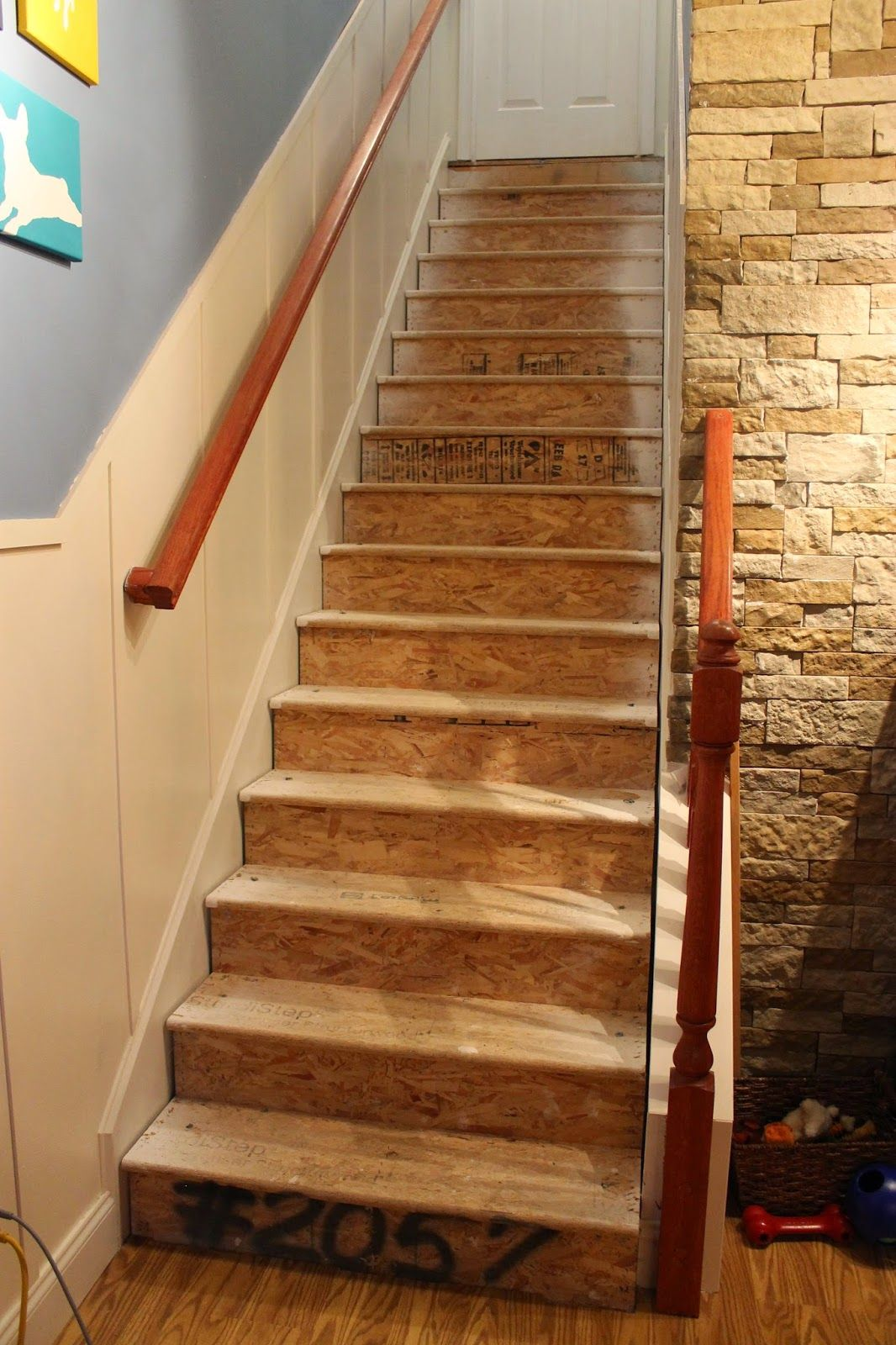 Best Paint Speckled Pawprints Refinished Staircase Reveal 400 x 300