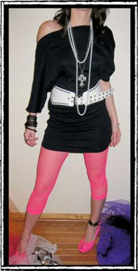 Donna 70 S 80 S Punk Rock Denim Jean Leggings Costume Cosplay WOW
