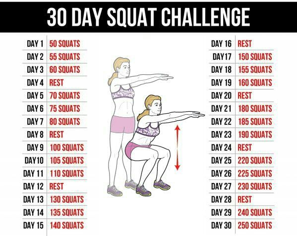 30 day squat challenge | I Can! | Pinterest | 30 day, Squat