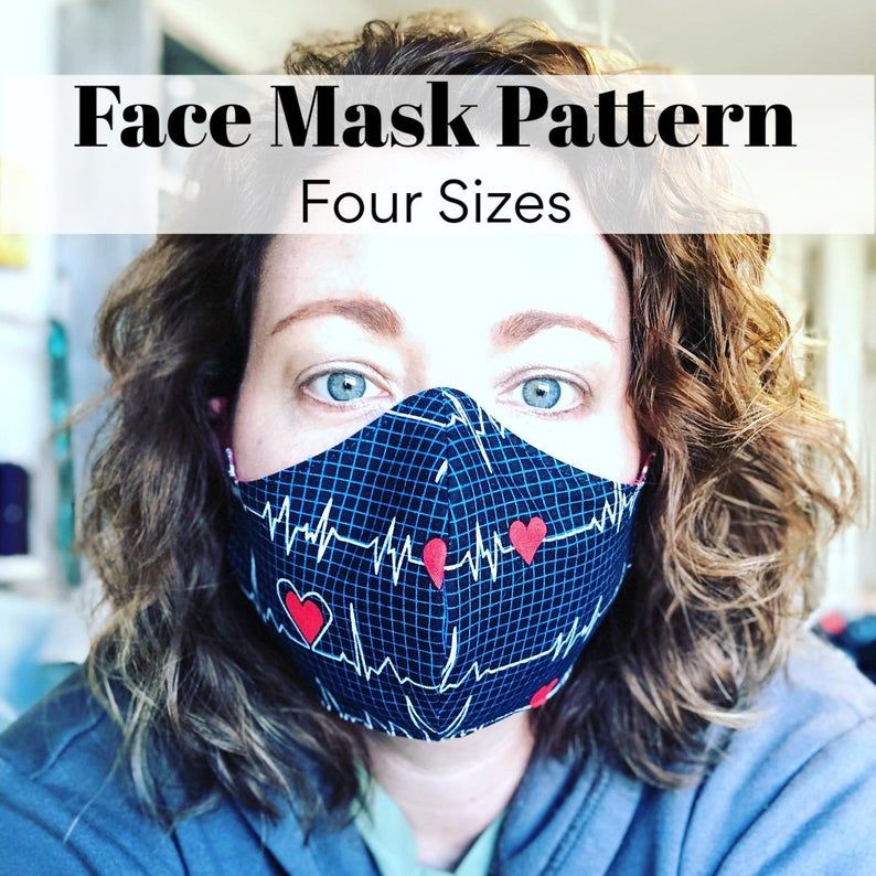 Photo of Face Mask PDF Pattern – Four Different Sizes – Free Video Tutorial – Flexible nose wire & Filter Pocket too!