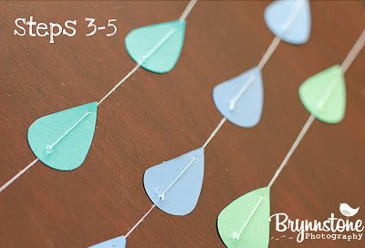 DIY No-Sew Paper Heart, Star and Raindrop Garlands | Humanist Home