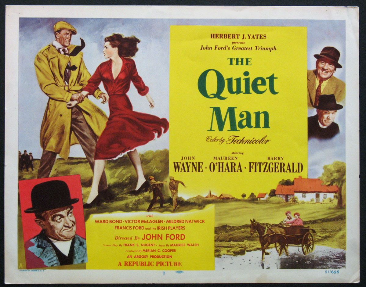The Quiet Man 1952 Starring Mr Sean Thornton And Miss Mary Kate Danaher Original Title Card Size 11x14 Mov The Quiet Man Irish Movies Republic Pictures [ 941 x 1199 Pixel ]