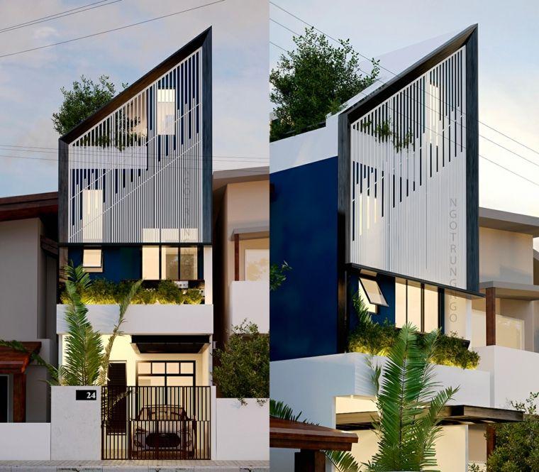 Fachadas de casas modernas dise os sorprendentes de alta for Arquitectura y diseno de casas modernas