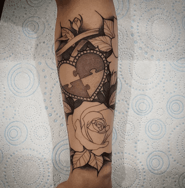 This autism tattoo is still in progress, but it is already absolutely stunning. Check out the 50 most beautiful tattoos in honor of autism awareness. #tattoos #tattoodesign #tattooideas #autism #autismawareness
