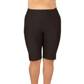 made in usa-women's plus size long swim shorts - available in 2