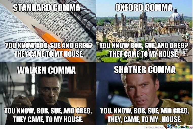 Intensive Online Training Courses In Proofreading Oxford Comma Funny Meme Pictures Best Funny Pictures