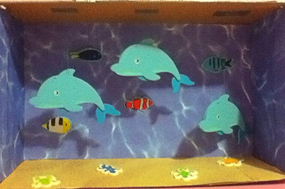 Dolphin diorama | school days | Pinterest | Dioramas ...