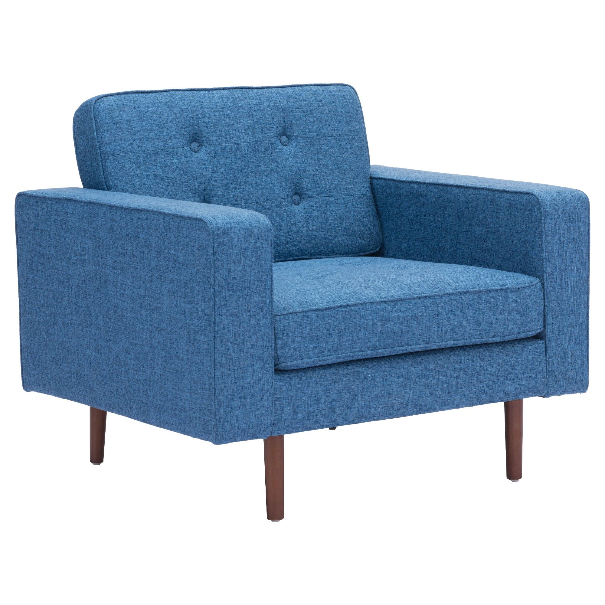 Tufted MidCentury Modern Upholstered Arm Chair ZM Home