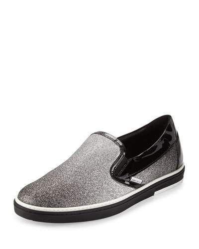 66196def004 N3UQ7 Jimmy Choo Grove Men s Glittered Slip-On Sneaker