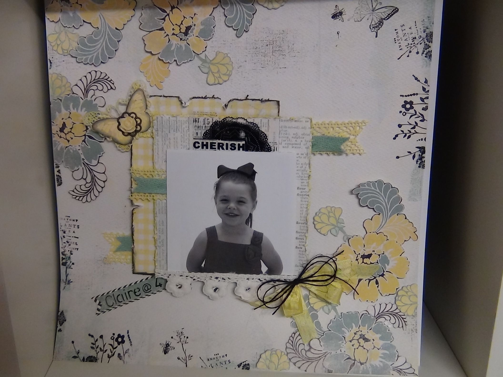 Cherish layout using Authentique Renew Collection papers more