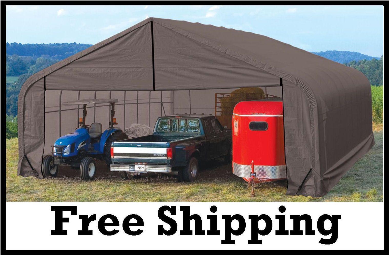 Commercial Portable Garage Storage Peak Roof 30' wide