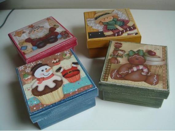 Manualidades y artesanias elizabeth cajas decoradas web - Manualidades pintar caja metal ...