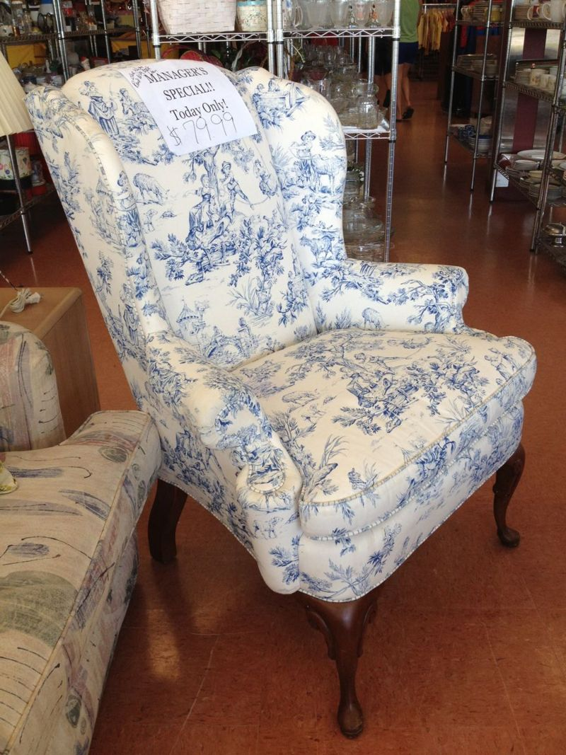 Toile wingback Wingback chair, Chair, Accent chairs