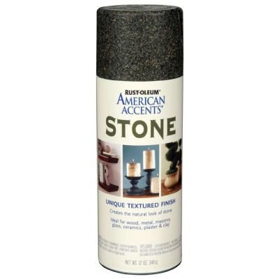 Rust Oleum American Accents 12 Oz Stone Creations Granite Stone Textured Finish Spray Paint 6 Pack 238323 The Home Depot Stone Spray Paint Stone Texture Rustoleum