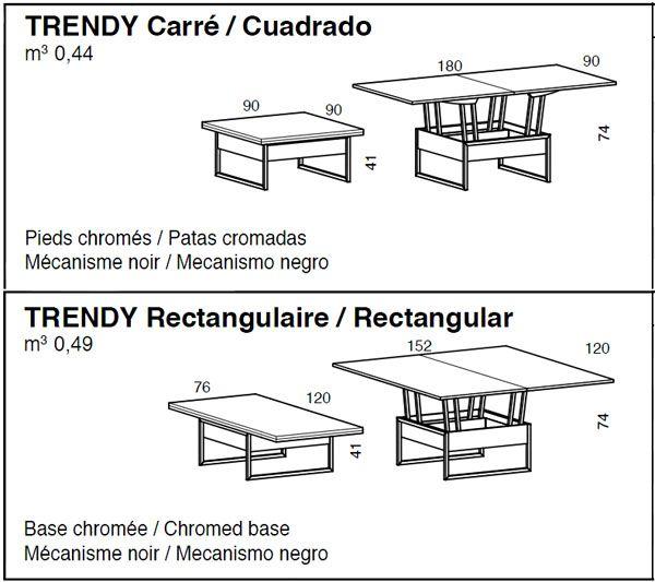 Mesa de centro elevable Trendy   Centro, Mesas y Mesa centro elevable