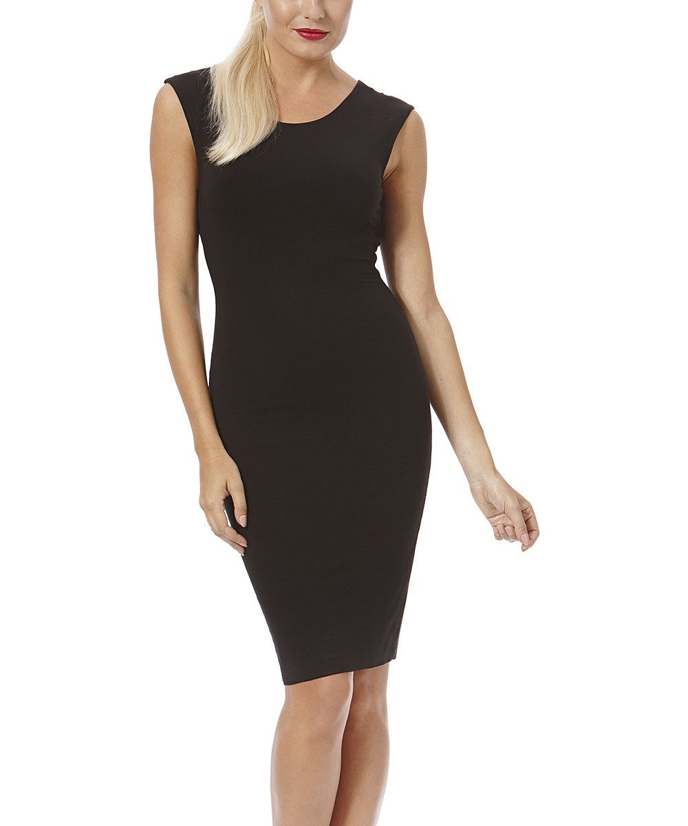 Look at this Laundry by Shelli Segal Black Back-Cutout Sleeveless Dress on #zulily today!