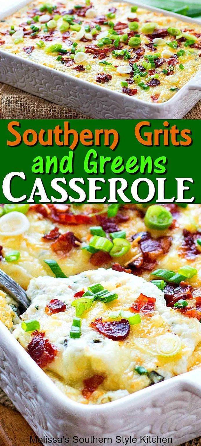 Southern Grits and Greens Casserole Southern Grits and Greens Casserole