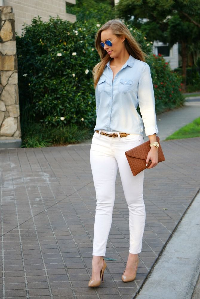 78  images about White jeans & heels on Pinterest | White jeans ...