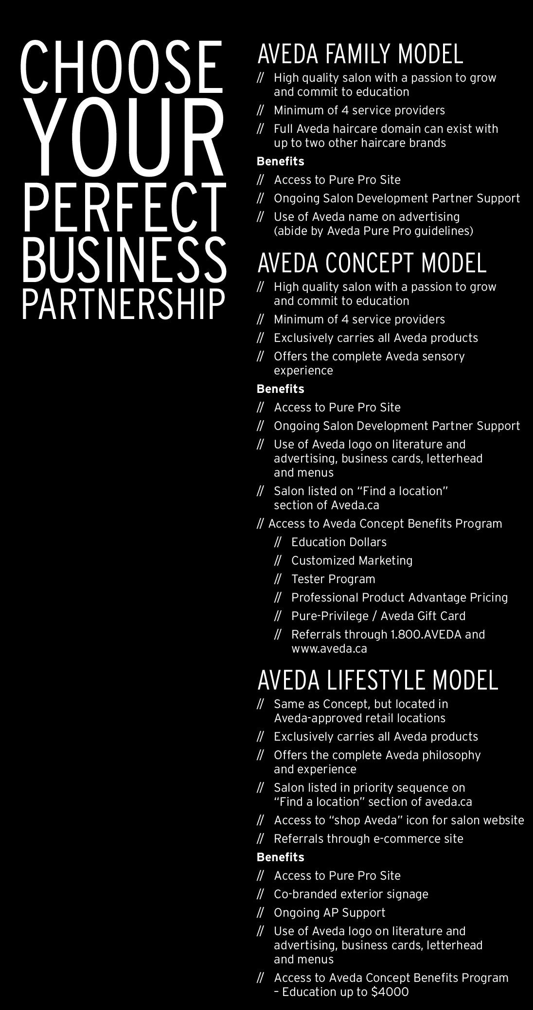 WHY PARTNER WITH AVEDA — Become an Aveda Salon
