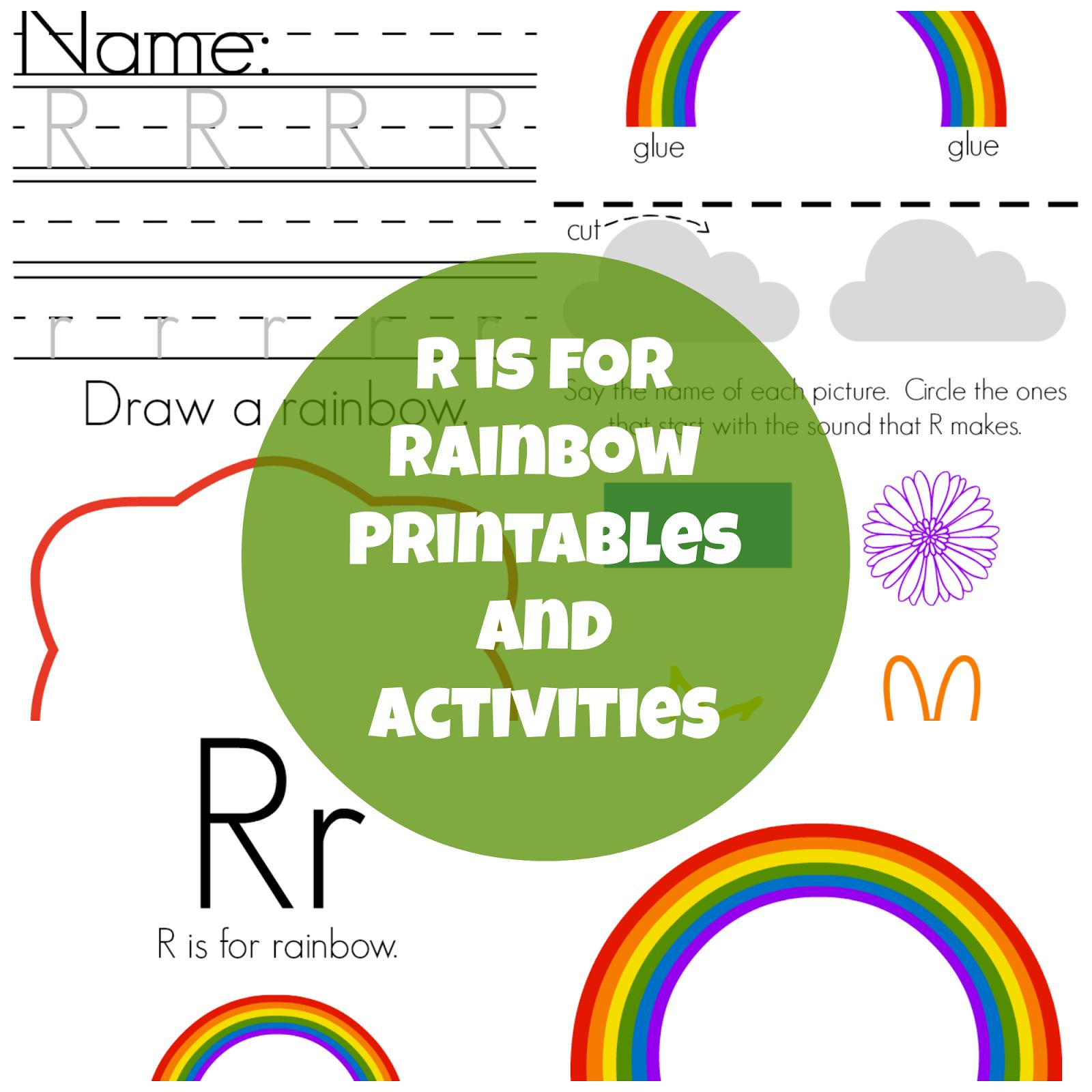 The Life of Jennifer Dawn: R is for Rainbow: Preschool Printables ...