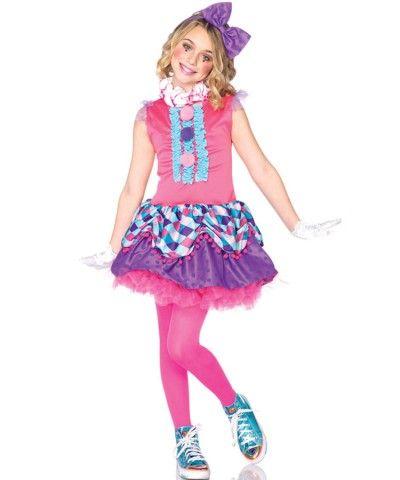 clown cutie girls costume girls - Girl Clown Halloween Costumes