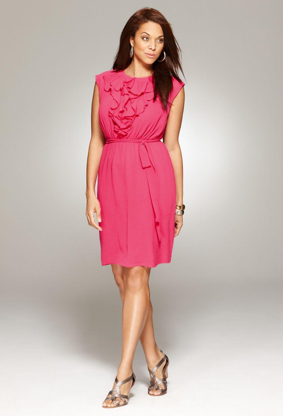 Plus size casual wedding dress  Plus Size Ruffle Front Dress  Plus Size Dress Clearance  Avenue